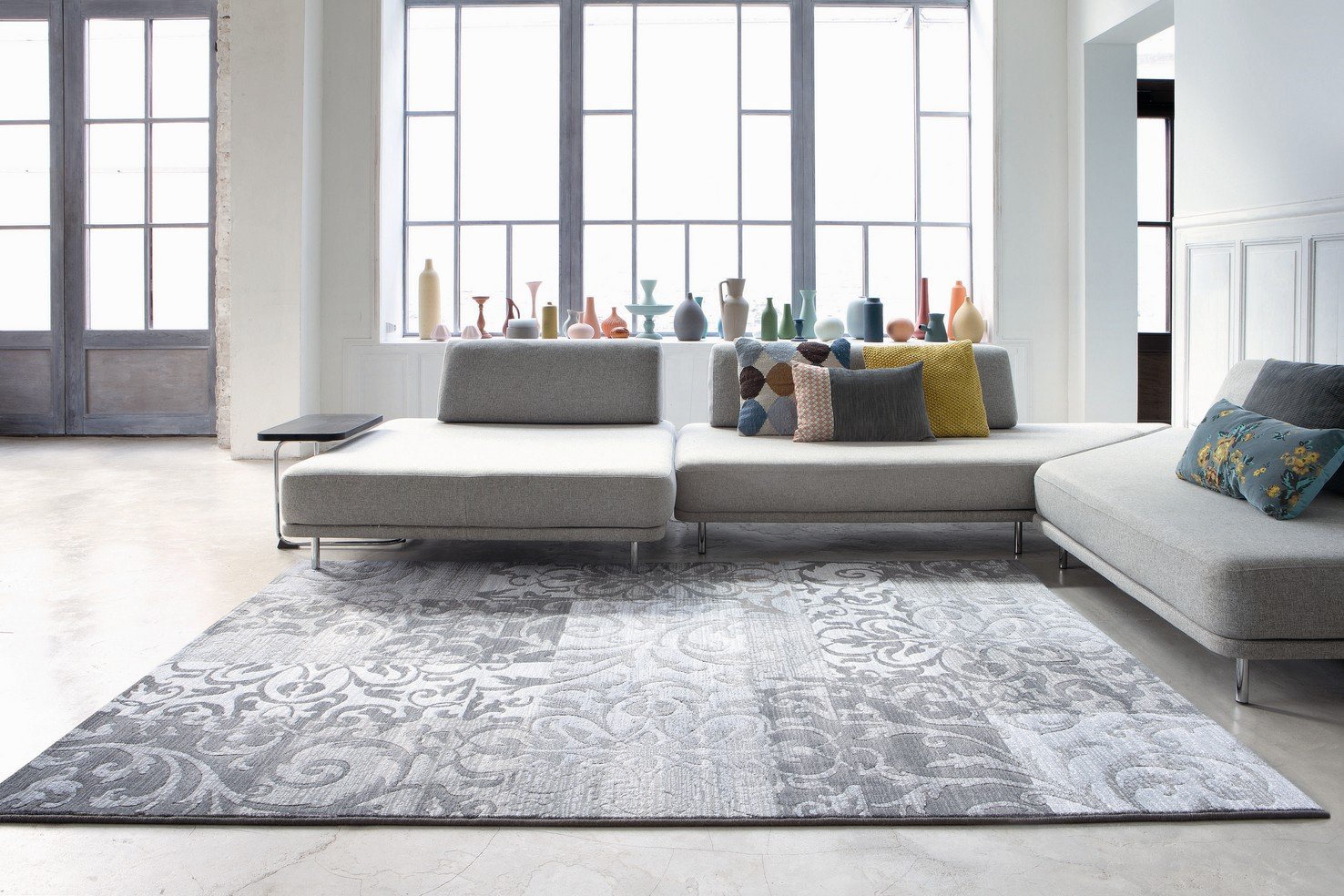 Tappeti moderni collezione piazzo for Tappeti per soggiorno online