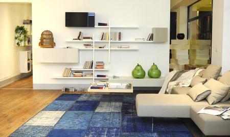tappeto moderno patchwork decolorato , sartori rugs , tappeti sartori a rimini , tappeti moderni a rimini