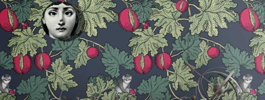 Carte da parati fornasetti frutto della passione